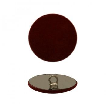Пуговица металлическая 48L, цвет  бордо бархат+никель