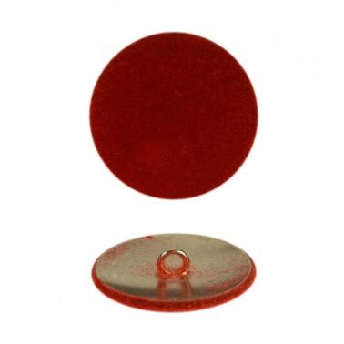 Пуговица металлическая 48L, цвет красный+никель