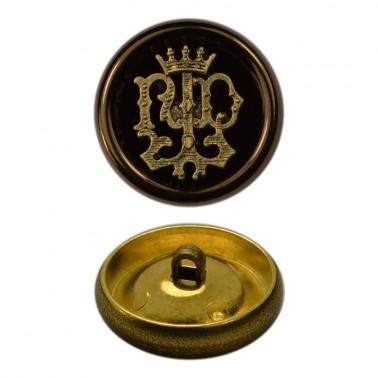 Пуговица металлическая 48L, цвет антик