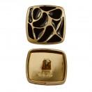 Пуговица металлическая, 46L, цвет матовое золото+черный