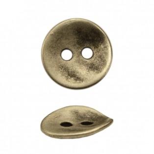 Пуговица металлическая 24L, цвет черненое серебро