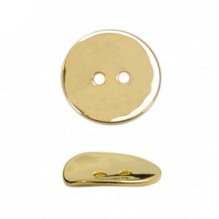 Пуговица металлическая 24L, цвет светлое золото