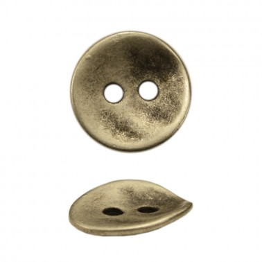 Пуговица металлическая 32L, цвет черненое серебро