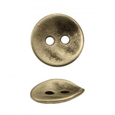 Пуговица металлическая 54L, цвет черненое серебро