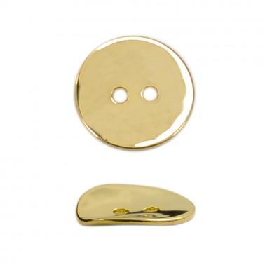 Пуговица металлическая 54L, цвет светлое золото