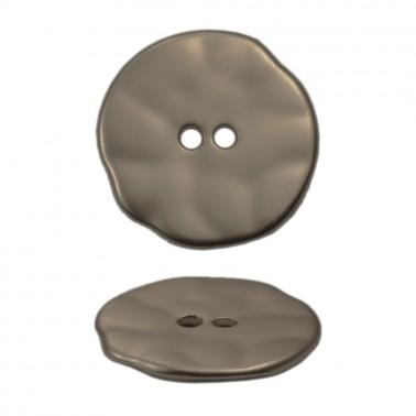 Пуговица металлическая 28L, цвет гематит