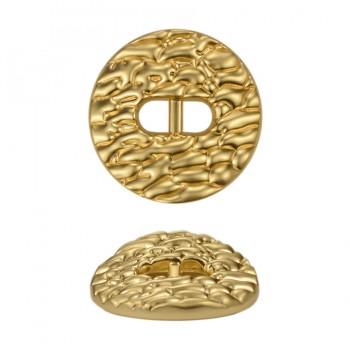 Пуговица металлическая 24L, цвет матовое золото