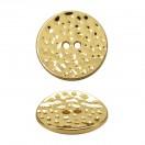 Пуговица металлическая, 18L, цвет золото