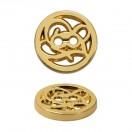 Пуговица металлическая, 20L, цвет золото
