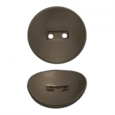 Пуговица металлическая 18L, цвет гематит
