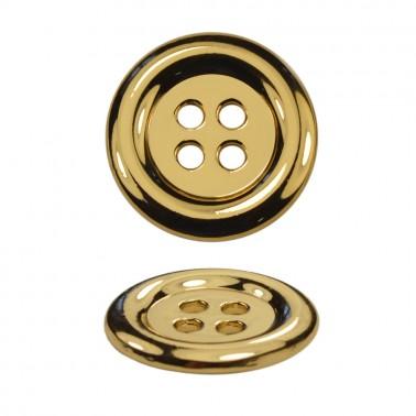Пуговица металлическая, 28L, цвет золото