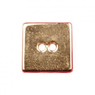 Пуговица металлическая, 62L, цвет золото, 2 прокола