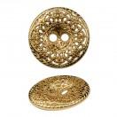 Пуговица металлическая 36L, цвет золото
