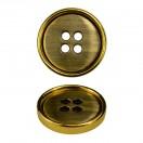 Пуговица металлическая, 44L, цвет золото+антик