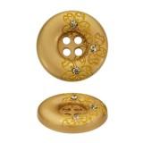 Пуговица металлическая, 40L, цвет матовое золото