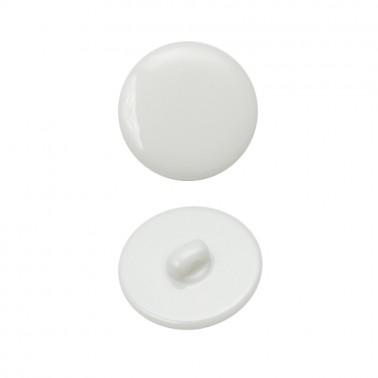 Пуговица пластиковая, 44L, цвет белый