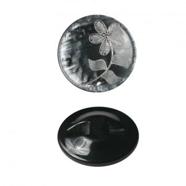 Пуговица пластиковая, 40L, цвет черный