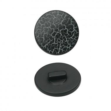 Пуговица пластиковая, 28L, цвет черный
