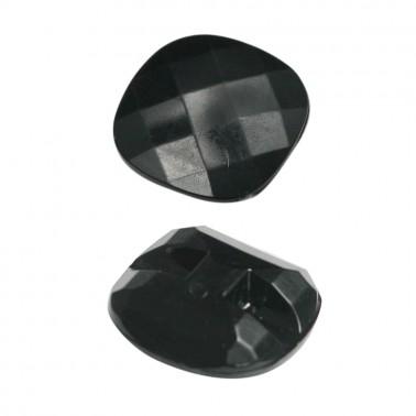 Пуговица пластиковая, 44L, цвет черный