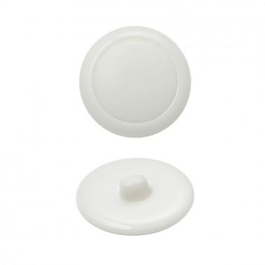 Пуговица пластиковая, 24L, цвет белый