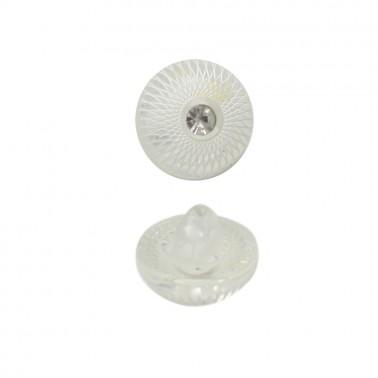 Пуговица пластиковая, 18L, цвет белый