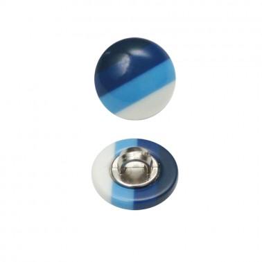 Пуговица пластиковая, 18L, цвет голубой