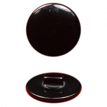Пуговица пластиковая, 20L, цвет черный