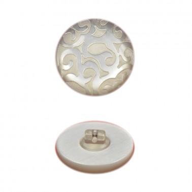 Пуговица пластиковая, 44L, цвет серый