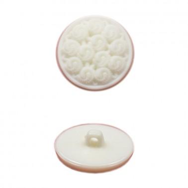 Пуговица пластиковая, 48L, цвет белый
