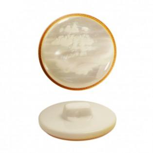 Пуговица пластик, 24L, цвет белый