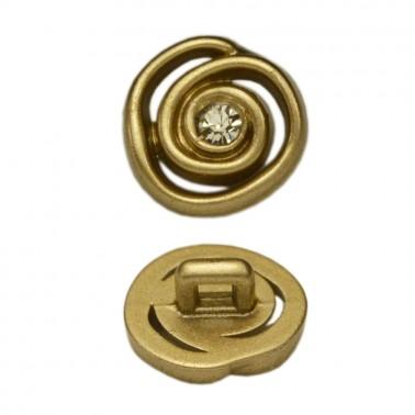 Пуговица пластик, 18L, цвет матовое золото