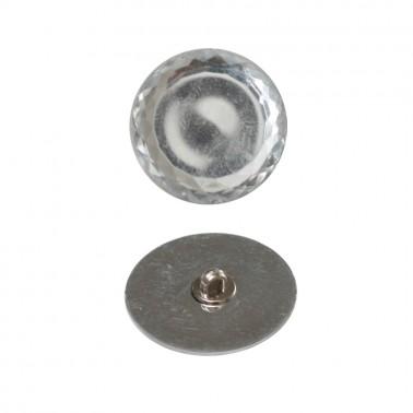 Пуговица пластиковая, 48L, цвет зеркальный