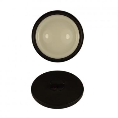 Пуговица пластиковая, 54L, цвет белый+черный