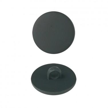 Пуговица пластиковая, 24L, цвет черный