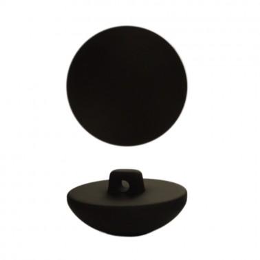 Пуговица пластиковая, 40L, цвет черный тач