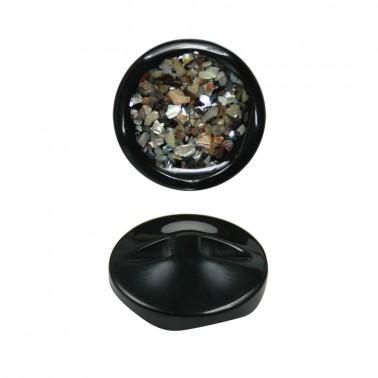 Пуговица пластиковая, 60L, цвет черный