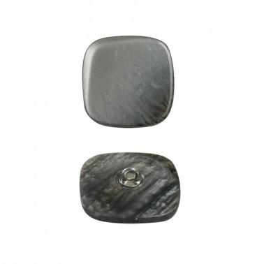 Пуговица пластиковая, 54L, цвет серый