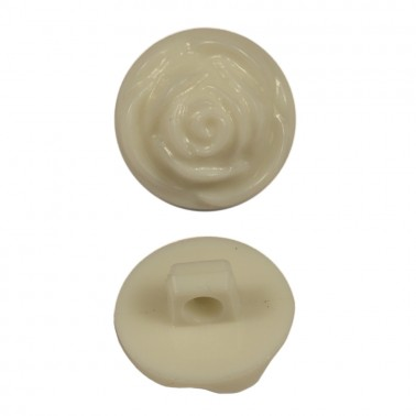 Пуговица пластиковая, 28L, цвет белый