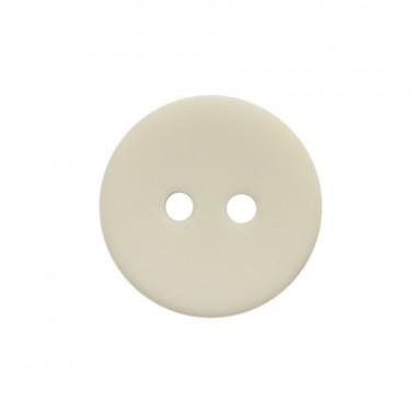 Пуговица пластиковая, 24L, цвет белый матовый, 2 прокола