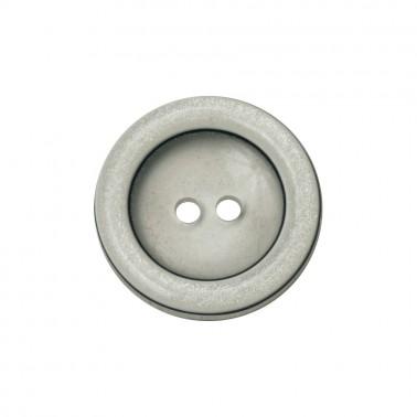 Пуговица пластиковая, 40L, цвет белый+прозрачный, 2 прокола