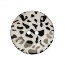Пуговица пластиковая, 54L, цвет черный+белый