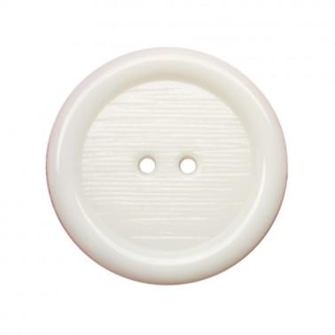 Пуговица пластиковая, 44L, цвет белый, 2 прокола