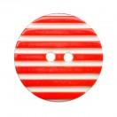 Пуговица пластиковая, 20L, цвет белый+красный