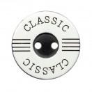 Пуговица пластиковая, 44L, цвет черный+белый, 2 прокола