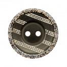 Пуговица пластиковая, 28L, цвет черный, 2 прокола