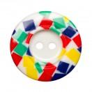 Пуговица пластиковая, 54L, цвет белый