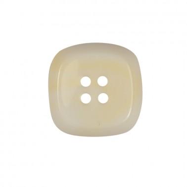 Пуговица пластиковая, 40L, цвет белый, 4 прокола