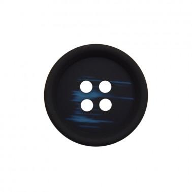 Пуговица плаcтиковая, 18L, цвет темно-синий