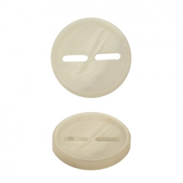 Пуговица пластик, 28L, цвет белый