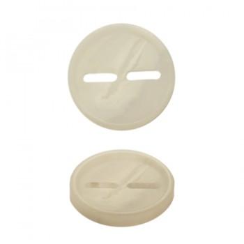 Пуговица пластик, 40L, цвет белый